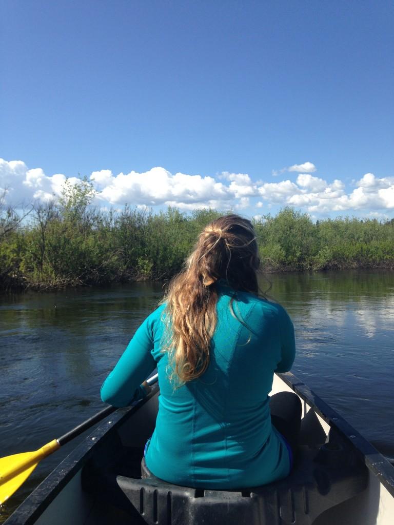My paddling partner, Kristin.