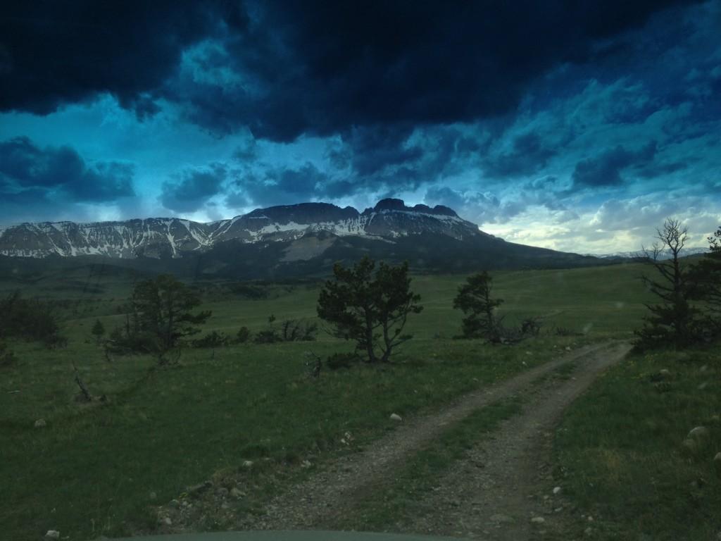 Sawtooth Mountain on the Rocky Mountain Front.