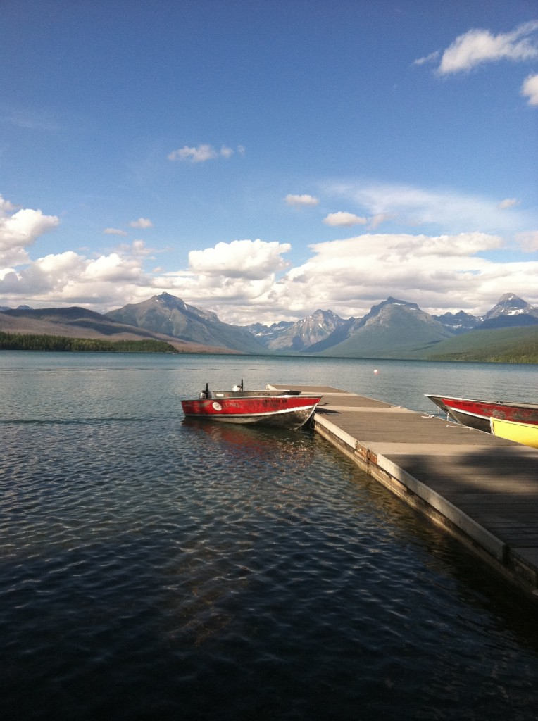The view of Lake McDonald from Apgar Village.