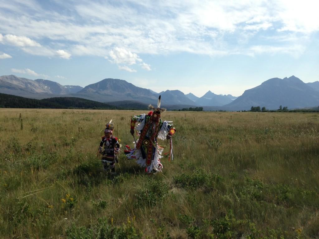 Blackfeet dancers in St. Mary.
