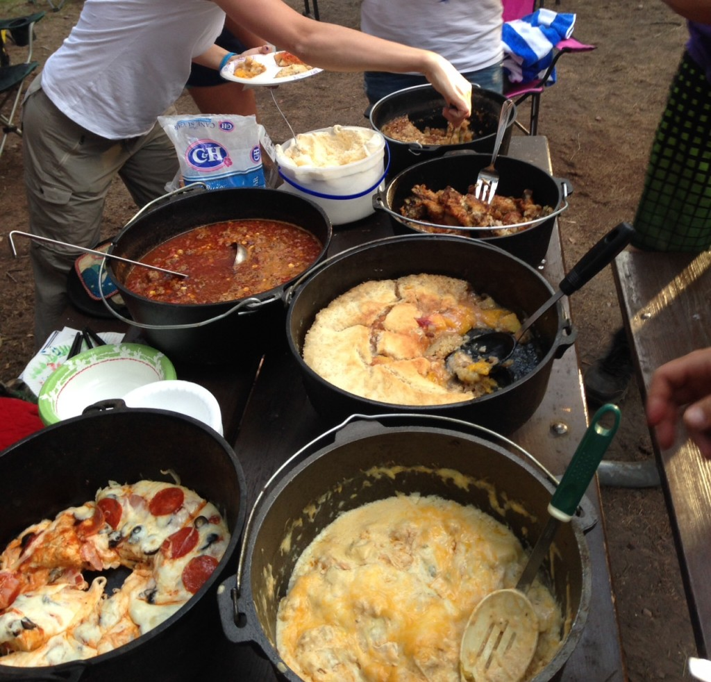 """The weekend festivities also included a Dutch oven cook-off. There may have been """"some"""" trash talking involved."""