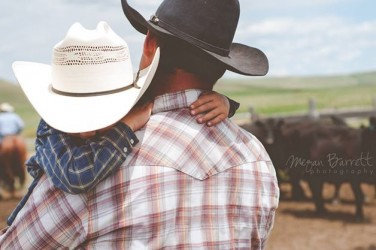 Montana cowboys: tough and tender. Photo: Megan Barrett