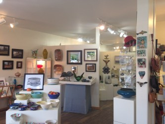 One of the locally owned shops featured artwork and jewelry from Montana artists.