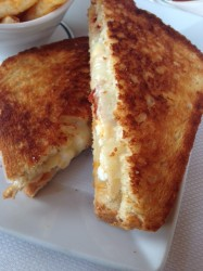 My visit started with a grilled ham and cheese, because winter.