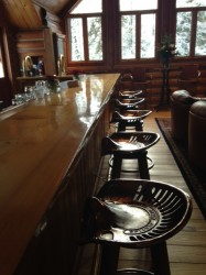 After lunch in the dining room, we headed up to the lounge to relax and belly up on these perfect bar stools.