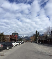 The view of Big Mountain from Central Avenue.