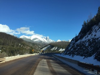 One of the stunning views along Highway 2.