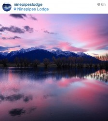 Early morning sunrise at Ninepipes Lodge in Charlo.
