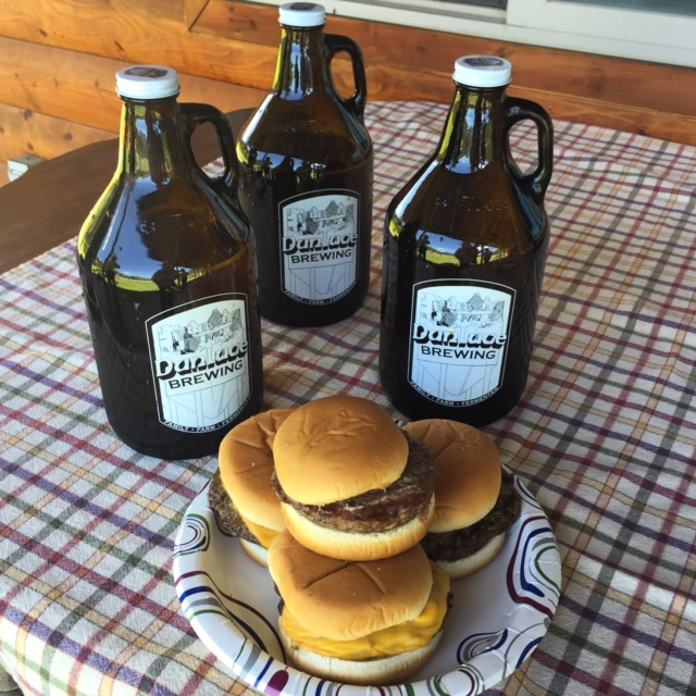 Locally raised beef burgers paired perfectly with beer from Montana's newest brewery, Dunluce Brewing in Superior.