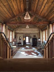 The upstairs of the main lodge.