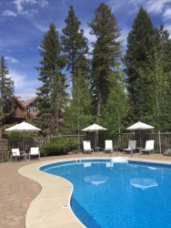 I LOVED the outdoor pool. I'd say it has one of the most beautiful pool settings in all of Montana.