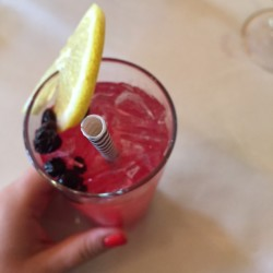My favorite: the huckleberry lemonade.