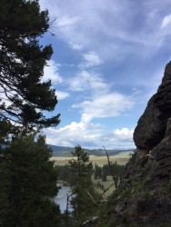 The view of the Blackfoot Valley from Lookout Rock.
