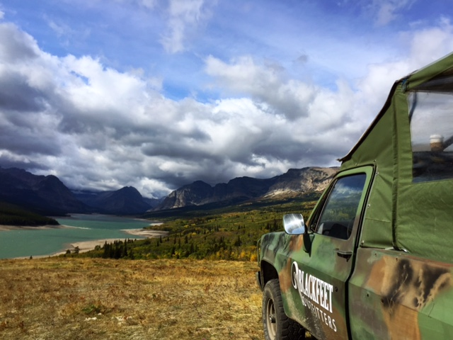 The jeep handled the steep terrain like it was nothing + our reward was this perspective of Glacier National Park.