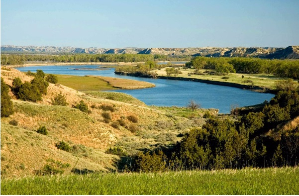 The Missouri River.