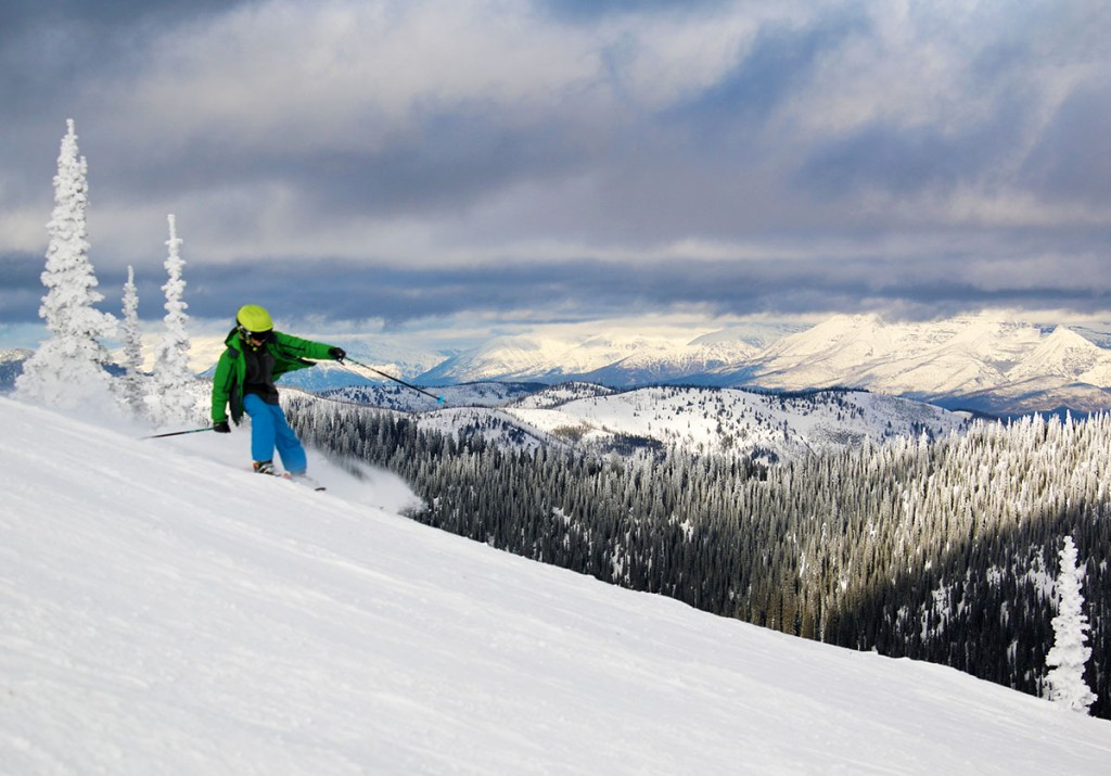 Skiing with a view at Whitefish Mountain Resort. Photo courtesy Brian Schott