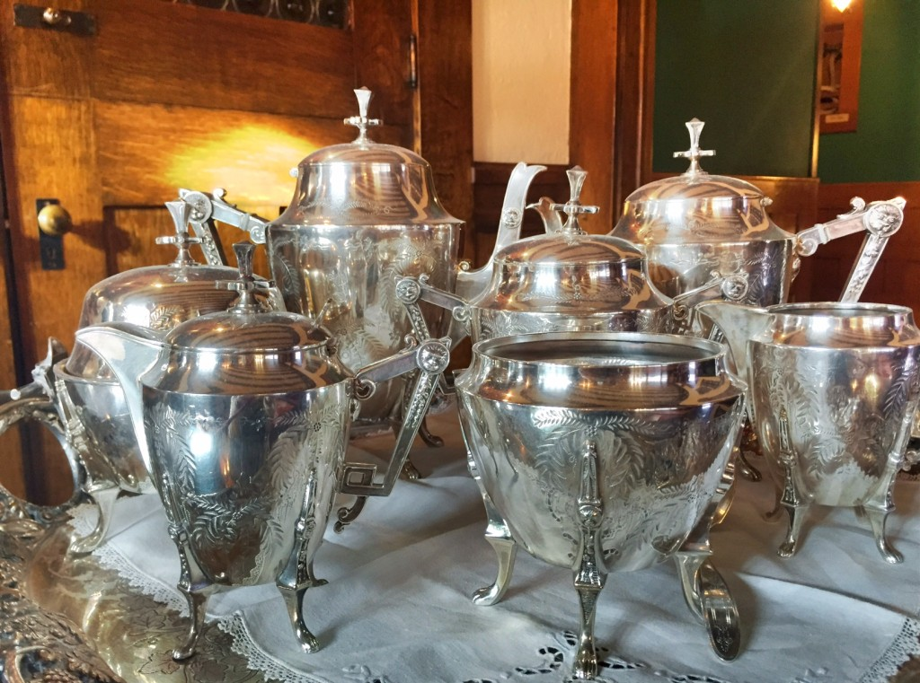 Original silver tea set of the Conrad family.