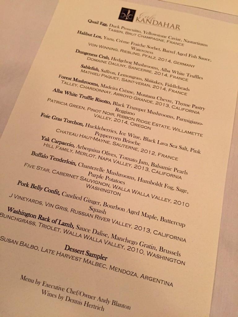 Yellowstone caviar, white truffles and huckleberries?! Yes, please.