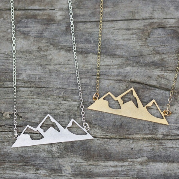 Mountain home necklaces. Photo courtesy of @madeofmtns instagram.