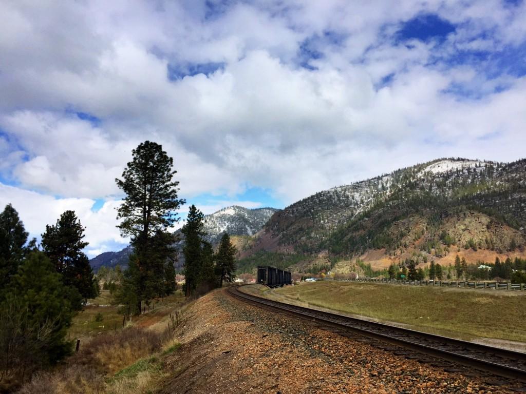 The railroad line heading into Paradise.