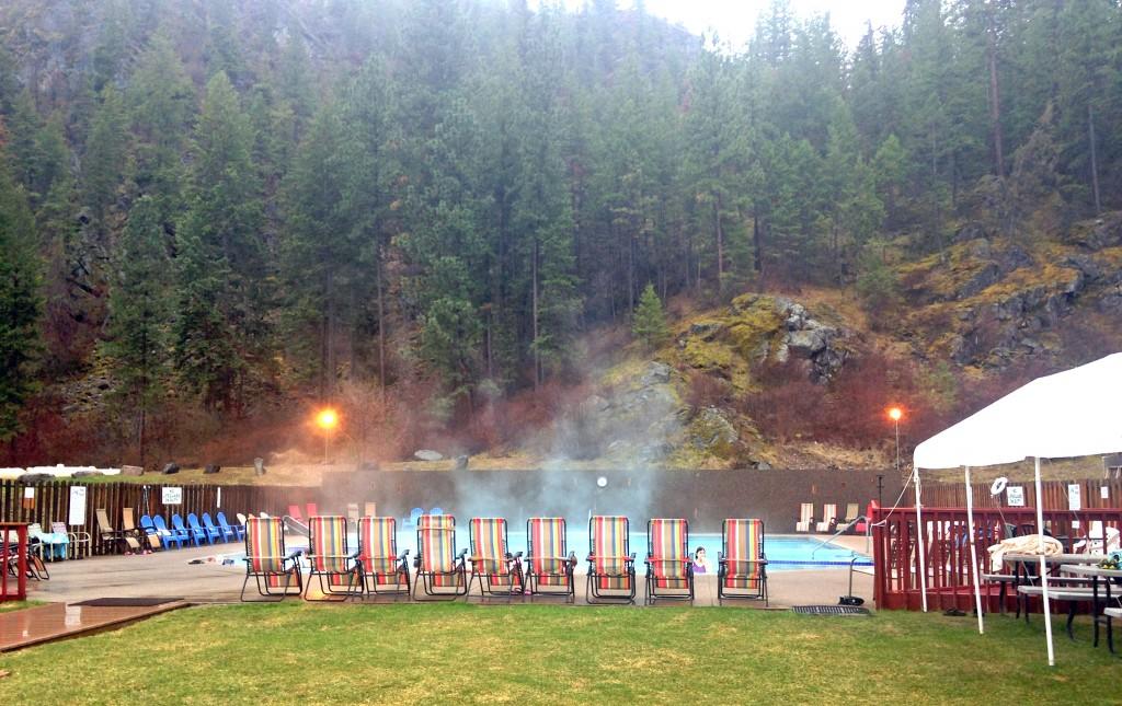 The pools at Quinn's Hot Springs Resort.