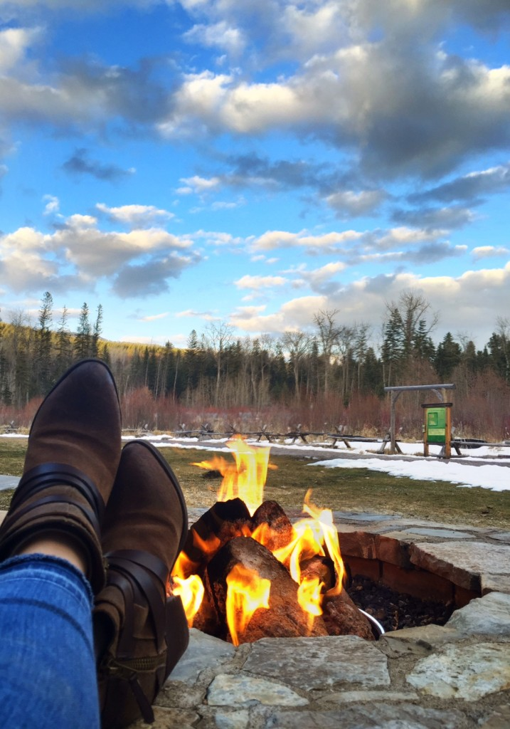 The final stop: the outdoor fire pit at The Lodge at Whitefish Lake.