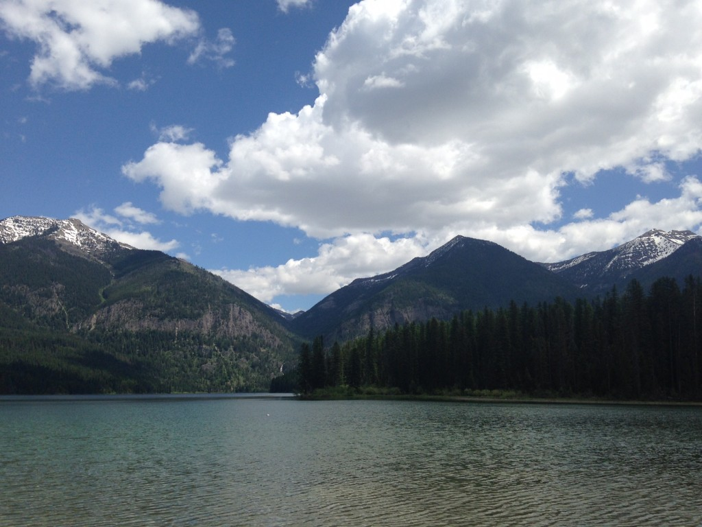 Holland Lake is an easy drive from Laughing Horse Lodge.