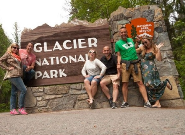 BFFs at Glacier National Park.