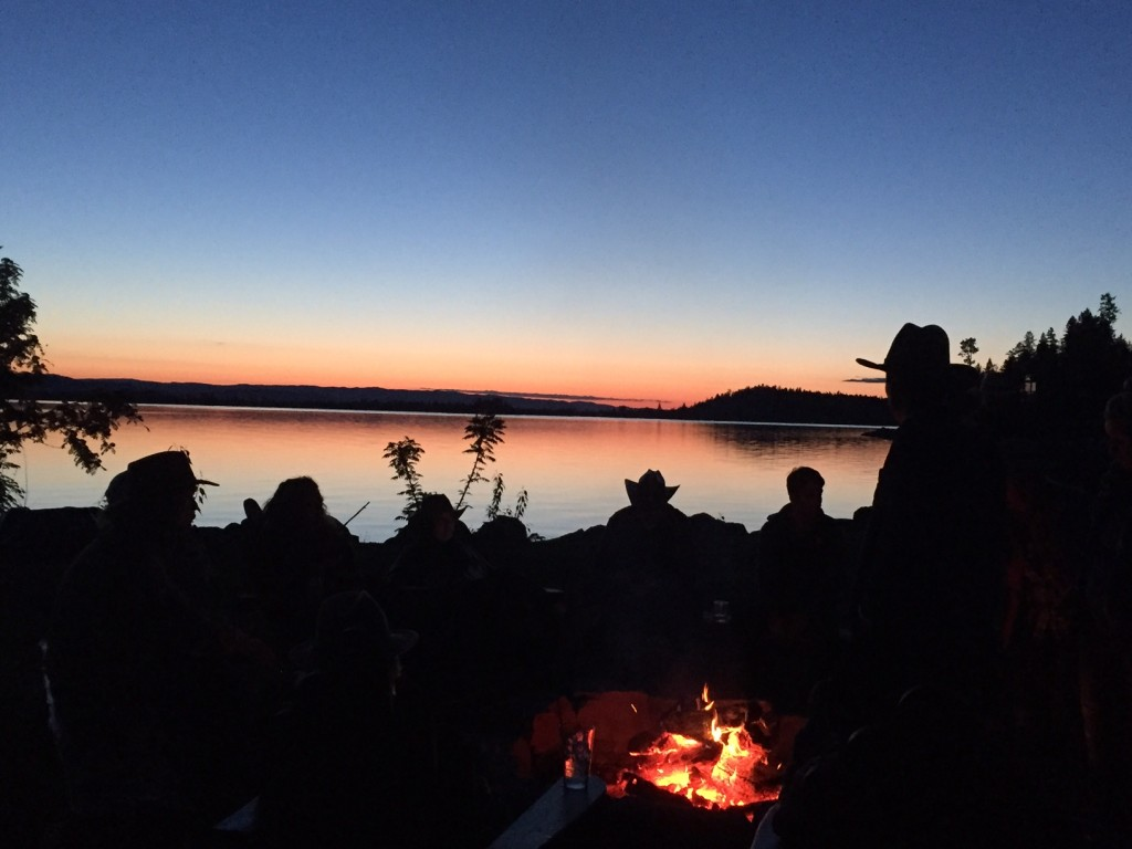 One of the places to be in Montana: around a campfire.