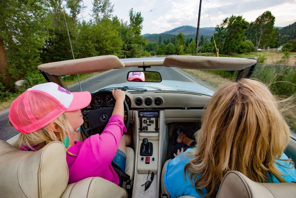 Cruising Montana's roads.