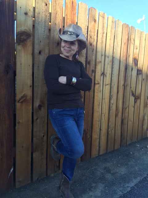 "My mom was decked out and ready for the weekend. You can just call her ""Cowgirl Sue."""