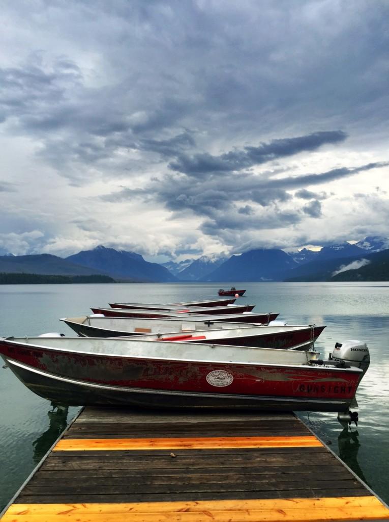 One of my favorite scenes, the boats of Glacier Park Boat Company at Apgar in Glacier National Park.