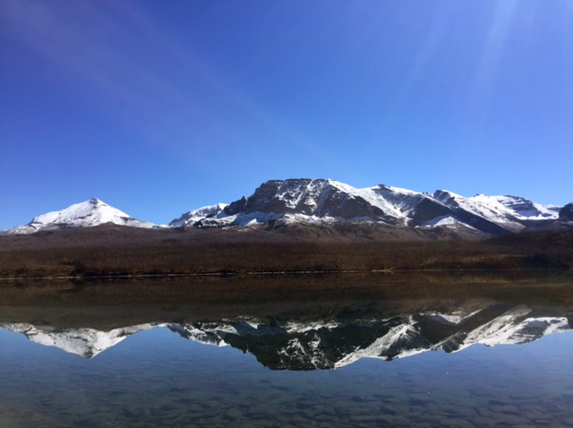 As we were driving past St. Mary Lake, the reflection practically begged us to pullover. So we did.