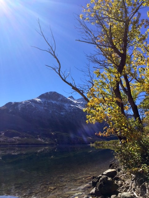 Fall colors + St. Mary Lake = me in love.