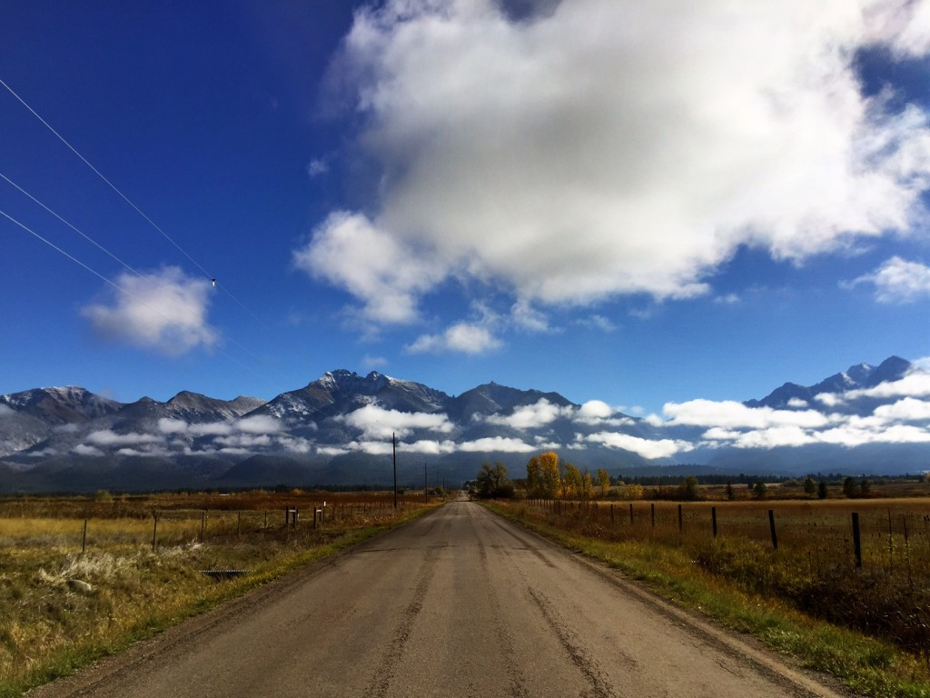 There's something about a dirt road and Montana.