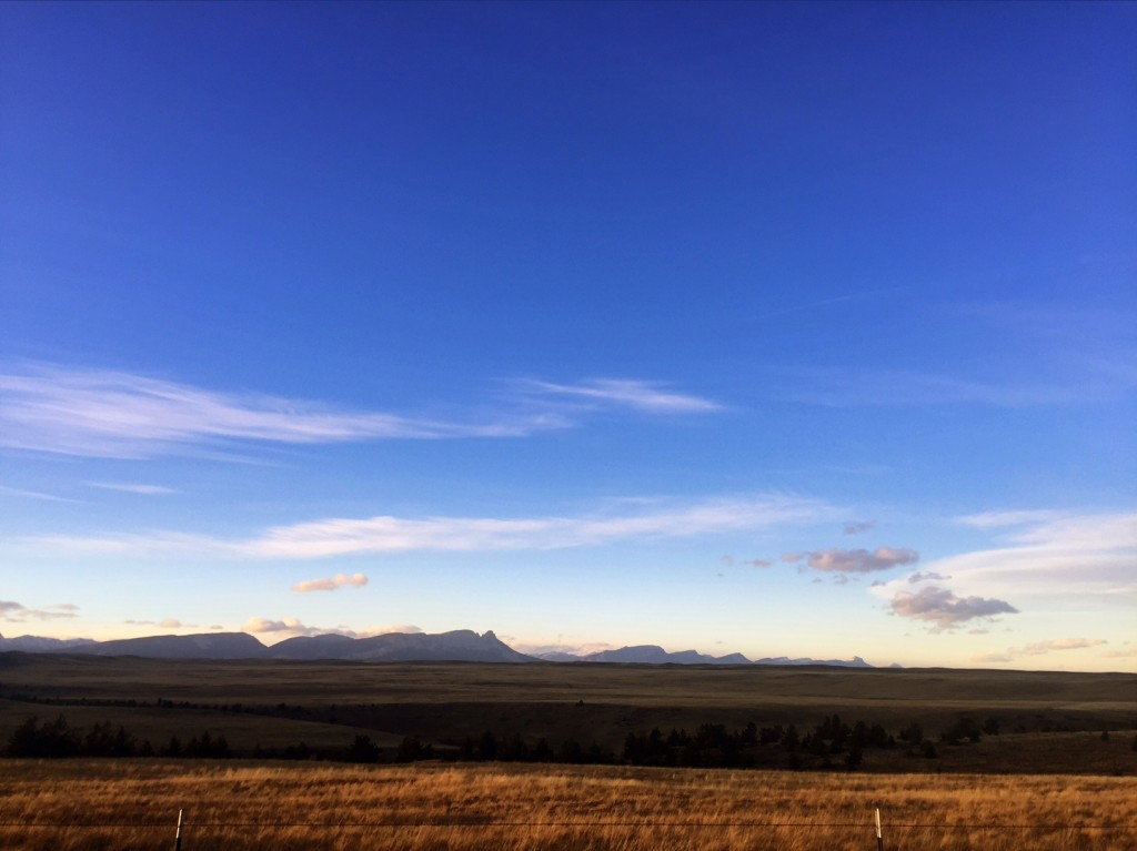 The aptly described Rocky Mountain Front, where the plains and mountains meet.