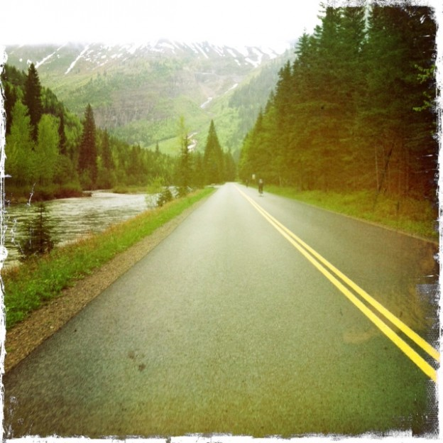 Spring Biking in Glacier National Park