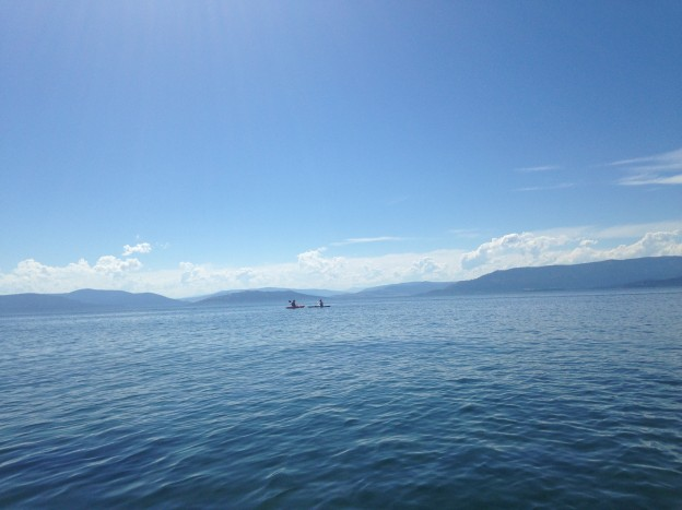 Playing on Flathead Lake