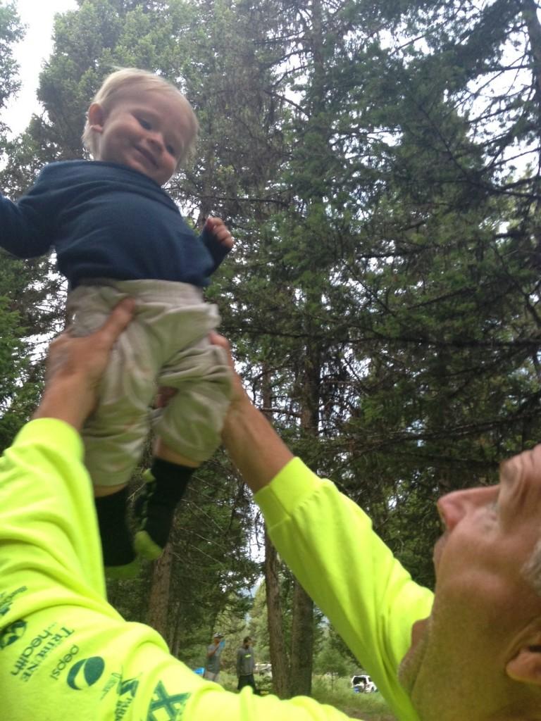Baby + grandpa bonding.
