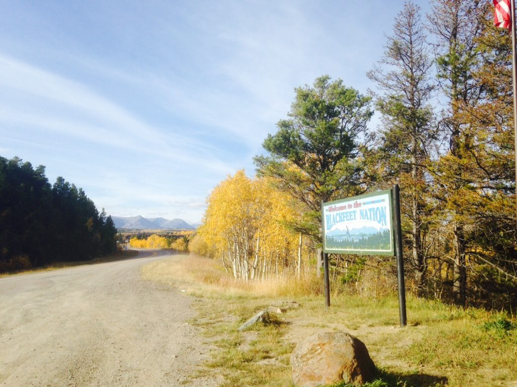 One of the entrance points to the Blackfeet Nation: home to the Blackfeet Tribe.