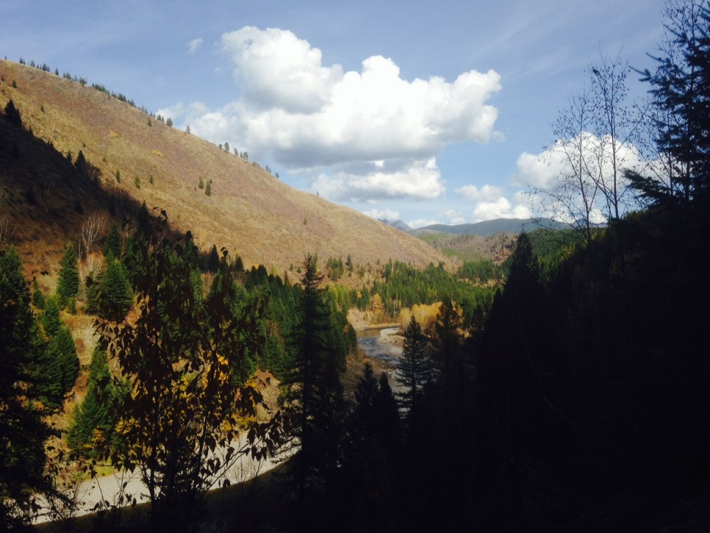 Highway 2 follows the Middle Fork of the Flathead River for several miles.