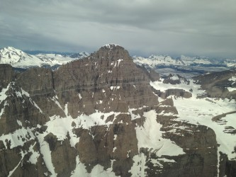 The peaks of Glacier National Park.