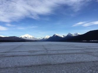 A frost-covered dock + some of the most photographed peaks in Montana.
