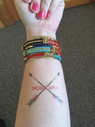 Wearing my love for Montana proudly on my arm.