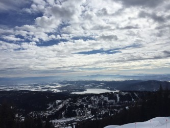 Looking out over the valley from the slopes of Whitefish Mountain Resort.