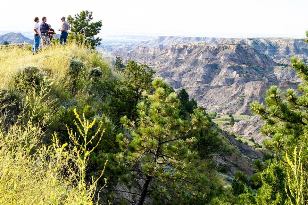 Overlooking the badlands at Makoshika State Park.
