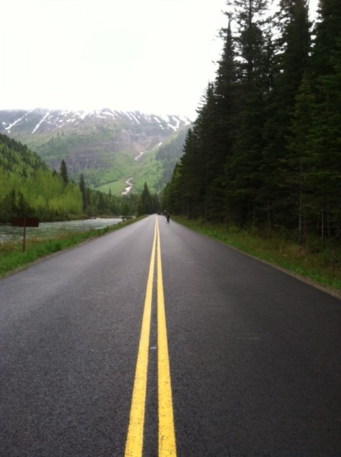 Biking on the Going-to-the-Sun Road.