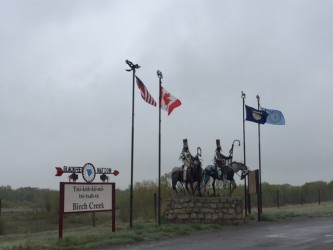 These Blackfeet warriors can be found at the four entry points onto the Blackfeet Nation.