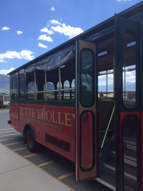 The trolley tour was a great way to cover a lot of ground in Butte, America.