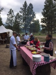 The chuckwagon dinner along the Blackfoot River was one of the highlights from our stay.